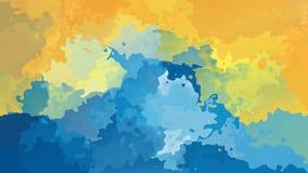 Video senza cuciture macchiato animato del ciclo del fondo - effetto dello splotch dell'acquerello - colore soleggiato degli azzu video d archivio