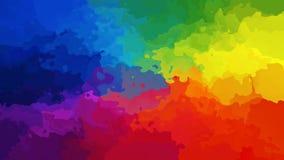 Video senza cuciture macchiato animato del ciclo del fondo - effetto dello splotch dell'acquerello - spettro conico di colore pie video d archivio