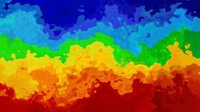 Video senza cuciture macchiato animato del ciclo del fondo - effetto dello splotch dell'acquerello - spettro orizzontale di color stock footage
