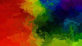Video senza cuciture macchiato animato del ciclo del fondo - effetto dello splotch dell'acquerello - spettro scuro di colore pien archivi video