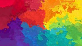 Video senza cuciture macchiato animato del ciclo del fondo - effetto dello splotch dell'acquerello - spettro vibrante di colore p archivi video