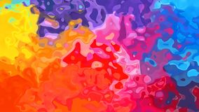 Video senza cuciture macchiato di scintillio animato del ciclo del fondo - effetto dello splotch dell'acquerello - spettro al neo illustrazione di stock