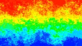 Video senza cuciture macchiato di scintillio animato del ciclo del fondo - effetto dello splotch dell'acquerello - spettro al neo illustrazione vettoriale