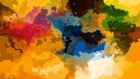 Video senza cuciture macchiato di scintillio animato del ciclo del fondo - effetto dello splotch dell'acquerello - spettro di col illustrazione di stock