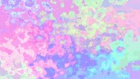 Video senza cuciture macchiato di scintillio animato del ciclo del fondo - effetto dello splotch dell'acquerello - spettro di col royalty illustrazione gratis