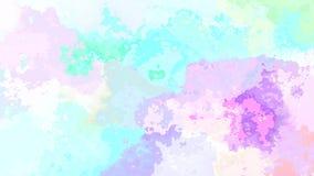 Video senza cuciture macchiato di scintillio animato del ciclo del fondo - effetto dello splotch dell'acquerello - spettro ologra illustrazione di stock