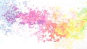 Video senza cuciture macchiato di scintillio animato del ciclo del fondo - effetto dello splotch dell'acquerello - spettro pastel illustrazione di stock