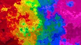 Video senza cuciture macchiato di scintillio animato del ciclo del fondo - effetto dello splotch dell'acquerello - spettro vibran illustrazione di stock