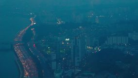 Seoul on a cloudy day stock footage