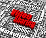 Video Sharing Stock Photo