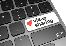 Video sharing Royalty Free Stock Photography