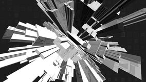 Sharp abstract greyscale stock video footage