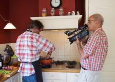 Video shoot cooking Show  Royalty Free Stock Images