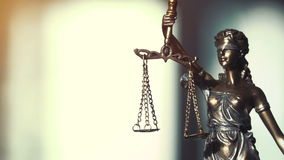 Video shot of Lady Justice Statue stock video footage