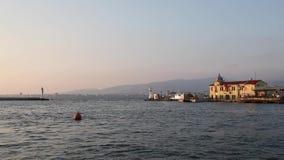 Historical Pier of Pasaport District. Video showing the historical pier located at Pasaport District, Izmir, Turkey stock footage