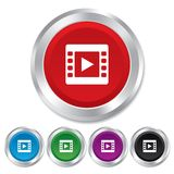 Video sign icon. Video frame symbol. Stock Photos