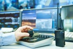 Video sistema di sicurezza di sorveglianza del monitoraggio Fotografie Stock Libere da Diritti