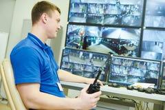 Video sistema di sicurezza di sorveglianza del monitoraggio fotografia stock libera da diritti