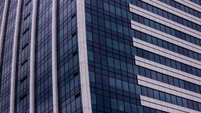 Skyscraper clouds reflections stock footage