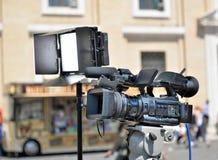 Video skytte för reportage arkivbilder