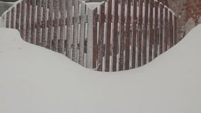 Video of a snow storm in Ukraine stock video footage