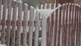 Video of a snow storm in Ukraine stock video