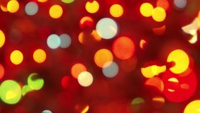Soft bokeh lights in darkness stock video
