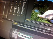 Video som redigerar programvara Royaltyfri Foto