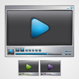 Video spelerinterface. Stock Afbeelding