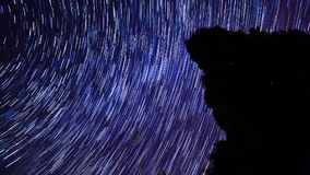 Star Trails Background stock footage