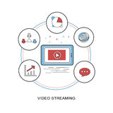 Video streaming concept Royalty Free Stock Photos
