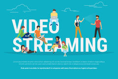 Video streaming concept illustration Royalty Free Stock Photo