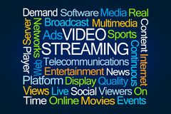Video Streaming Word Cloud royalty free stock images