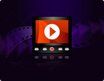 Video strömendes Konzept Lizenzfreies Stockbild