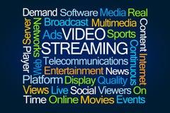 Video Stromende Word Wolk royalty-vrije stock afbeeldingen