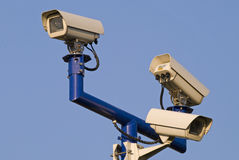 Video surveilance cameras Royalty Free Stock Images