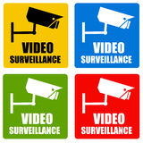 Video surveillance. Keeping an eye on the surroundings with video surveillance Royalty Free Stock Images