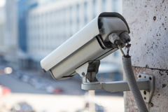 Video surveillance camera close-up view Stock Photos