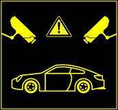 Video Surveillance for Cars Royalty Free Stock Images