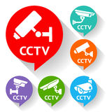Video surveillance Royalty Free Stock Images