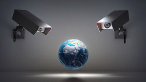 Video surveillance and privacy issues Stock Photos