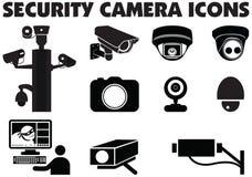 Video surveillance security cameras graphic illustration. stock illustration