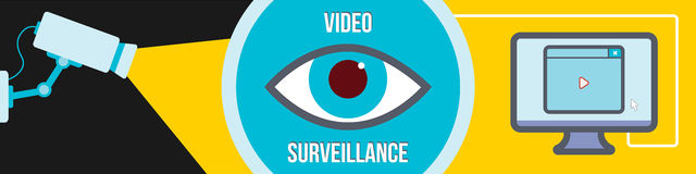 Video surveillance Stock Image