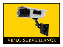 Video surveillance sign Stock Photo