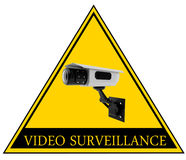 Video surveillance sign Royalty Free Stock Photos