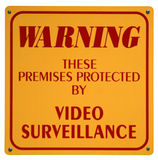 Video Surveillance Sign. Warning sign of video surveillance protection Stock Image