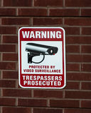 Video surveillance sign Royalty Free Stock Photo