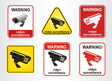 Video surveillance sign. Stock Image