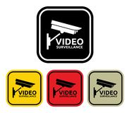 Video surveillance sign Stock Image