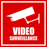 Video surveillance sign Stock Photography